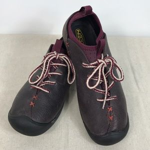 KEEN SM 0508 Plum Trail Leather Lace Up Sneakers